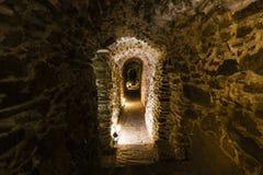 Underground corridor cave Royalty Free Stock Photo