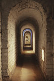 Underground Corridor In Fortress Royalty Free Stock Photography