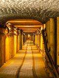 Underground corridor Royalty Free Stock Photography