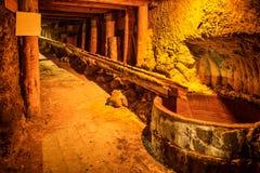 Underground corridor in a mine Royalty Free Stock Image