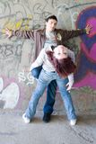 Underground couple Stock Images