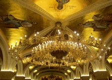 Underground crypt of orthodox Saint Sava church in Belgrade, Serbia royalty free stock photos