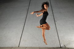 Underground Dance 15. Artistic Picture of a Dancer performing athletic contemporary dance moves Royalty Free Stock Photography