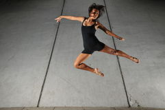 Underground Dance 51. Artistic Picture of a Dancer performing athletic contemporary dance moves Royalty Free Stock Images