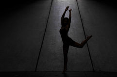 Underground Dance 53. Artistic Picture of a Dancer performing athletic contemporary dance moves Stock Image