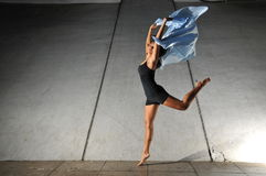 Underground Dance 61. Artistic Picture of a Dancer performing athletic contemporary dance moves Stock Images