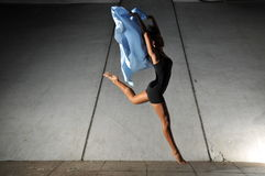 Underground Dance 62. Artistic Picture of a Dancer performing athletic contemporary dance moves Royalty Free Stock Photo