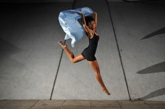 Underground Dance 63. Artistic Picture of a Dancer performing athletic contemporary dance moves Stock Photography