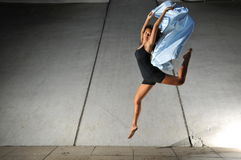 Underground Dance 83. Artistic Picture of a Dancer performing atheletic/ contemporary dance moves. Extremely useful for depicting freedom, modern, artistic Royalty Free Stock Images