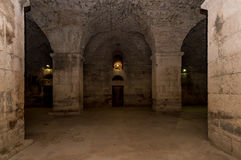 Underground of Diocletian Palace, Split. Royalty Free Stock Images