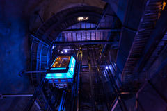Underground elevator leading to top of hill Stock Image