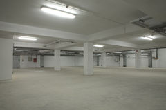 Underground empty parking Royalty Free Stock Photography