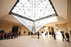 Underground entrance of the Louvre Museum 1 Royalty Free Stock Image