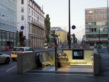 Underground entrance in Munich Stock Photography