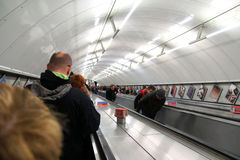Tube Station escalator Stock Photo
