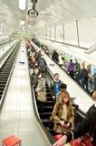 Underground escalators at London Royalty Free Stock Images