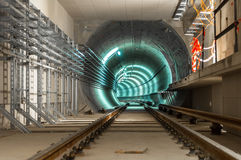 Underground facility with a big tunnel Stock Image