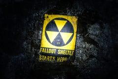 Underground Fallout Shelter. Sign Underground Stock Photo