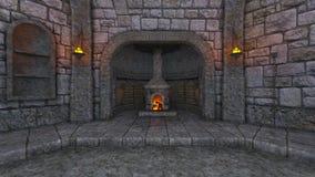 Underground fortress Stock Photo