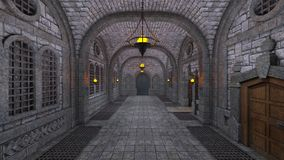 Underground fortress Royalty Free Stock Image