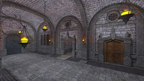 Underground fortress Stock Photos