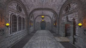 Underground fortress Stock Photography