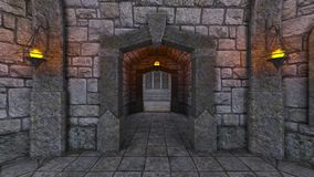 Underground fortress Stock Image