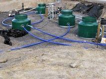 Underground Fuel Tank Installation Stock Photography