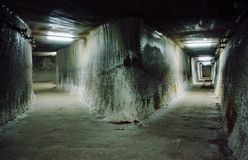 Underground gallery in a salt mine Royalty Free Stock Photography