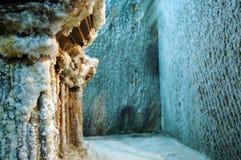 Underground gallery in a salt mine Stock Image