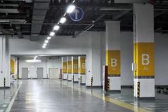 Underground garage. With nobody,which taken in china Royalty Free Stock Photo