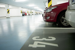 Underground garage Stock Images