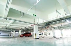 Underground garage. Half empty underground garage or parking Stock Photography