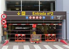 Underground garage. Street in Barcelona. Spain Stock Images