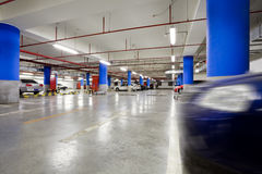 Underground garage Stock Photos