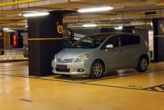 Underground garage. The car is parked in the underground garage Stock Image