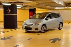 Underground garage. The car is parked in the underground garage Royalty Free Stock Image