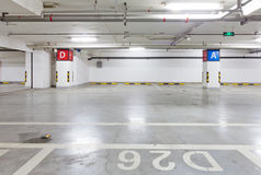 Underground garage. Car parking garage underground interior Royalty Free Stock Photos