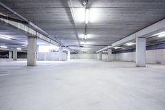 An underground garage Royalty Free Stock Photography