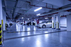 Underground garage parking lot Stock Image