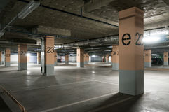Underground garage - parking lot Stock Photos