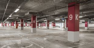 Underground garage parking Royalty Free Stock Images