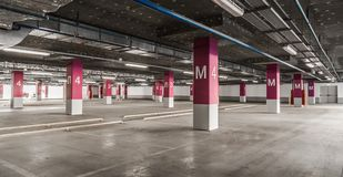 Underground garage parking Royalty Free Stock Photography