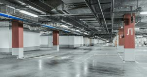 Underground garage parking Royalty Free Stock Photos