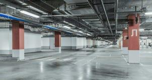 Underground garage parking Royalty Free Stock Photos