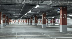 Underground garage parking Royalty Free Stock Photo