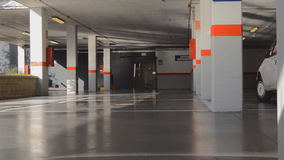 Underground Garage Parking Lot Entrance stock footage