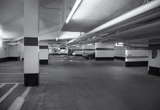 Underground garage parking lot Royalty Free Stock Image