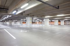 An underground garage Stock Images