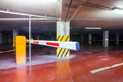 An underground garage whit barrier Royalty Free Stock Images